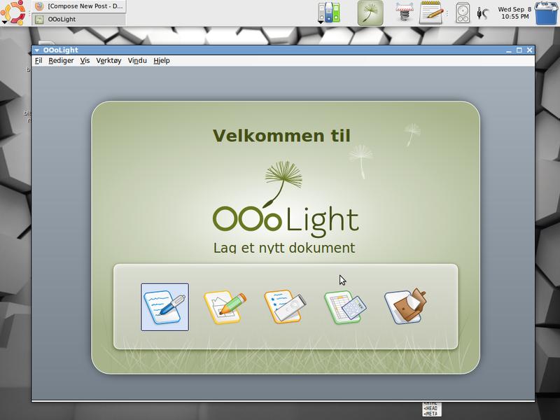 OOoLight-startcenter
